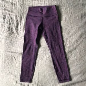 Lululemon High Times 7/8 pant, size 6, purple